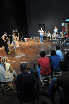 'In the Rectangle of Doubt' performance tryout:Young Stories of Bedouin Life and Prejudice Project.